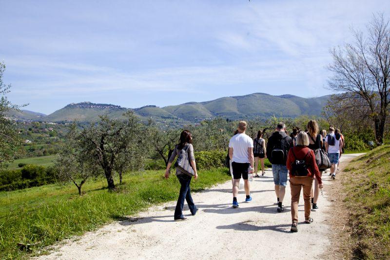 A passeggio per la campagna sabina