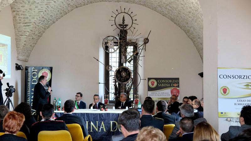 Il Presidente Petrucci durante un intervento