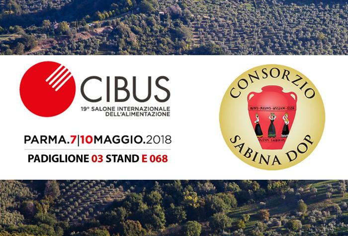 Il Consorzio Sabina DOP partecipa a CIBUS, Parma 7-10 maggio 2018