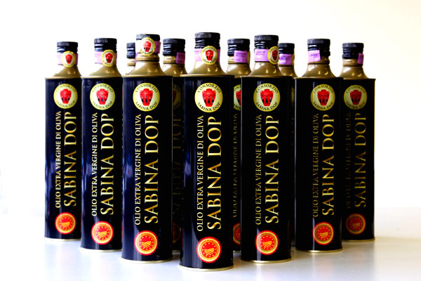Confezione 12 bottiglie da 0,75 litri di Olio Sabina Dop